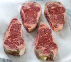 Dry Aged Prime Kansas City Strip Steaks (4 per pack)