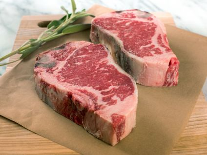 Dry Aged Naturally Raised Prime Kansas City Strip Steak (4 Per Pack)