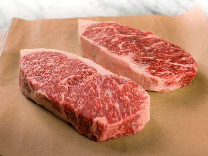 Australian Wagyu Kobe Beef Style Marble Score 8/9 Strip Steaks (2 Per Pack)