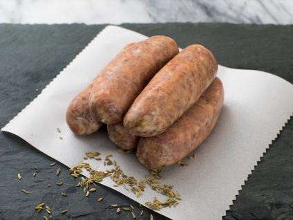 DeBragga Sweet Fennel Sausages, 5 links to a pack