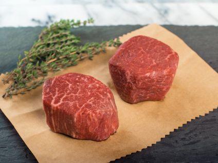 Australian Wagyu Kobe Beef Style Marble Score 8/9 Beef Filet Steaks, 2 per pack