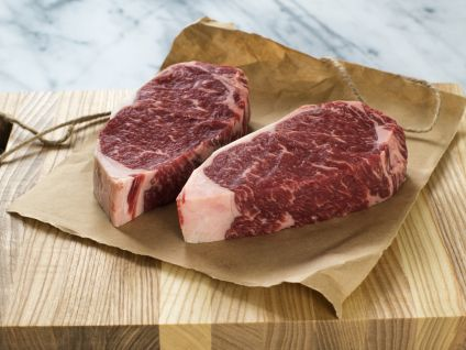 Dry Aged Prime New York Strip Steaks (4 PER PACK)