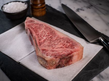 American Wagyu Kobe Beef Style Bone-in Dry Aged Strip Steak