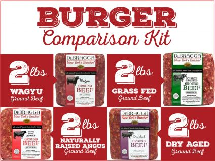 Compare our ground beef - wagyu, grass-fed, dry aged