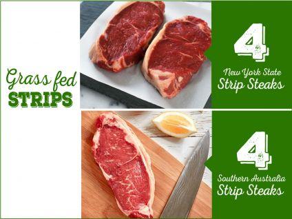Shop online for grass-fed strip steaks