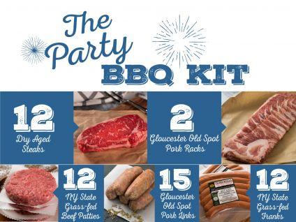 dry-aged steaks, bbq kit
