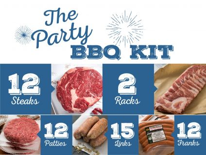 Party Kit with Ribeye steaks