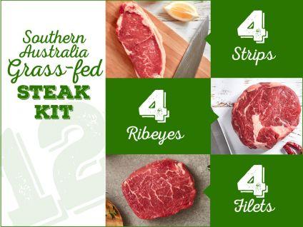 grass-fed steak kit, 12 pack