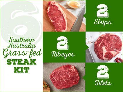 grass-fed steak kit, 6 pack
