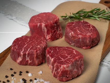 Naturally Raised Prime Beef Filet Steaks