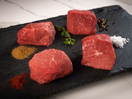 American Wagyu Kobe Beef Style Top Sirloin Steaks (8 Per Pack)