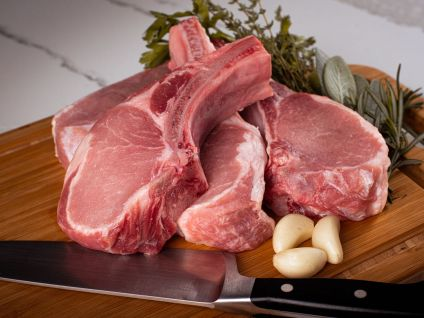 Gloucester Old Spot Pork Rack Chops  (4 per pack)