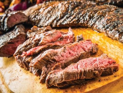 Angus peeled Skirt steaks, (eight steaks)