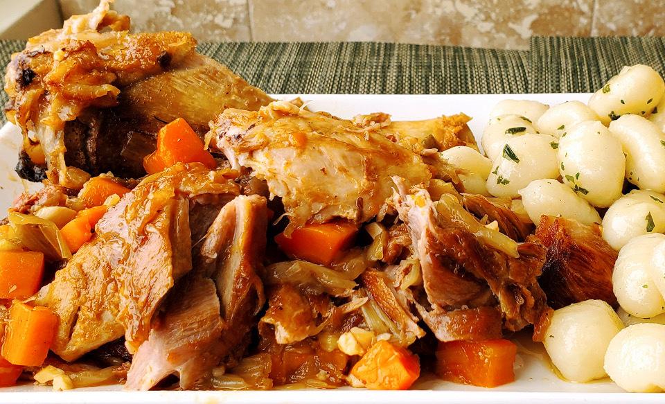 Low & Slow Pork Shanks with Prosciutto & Sage