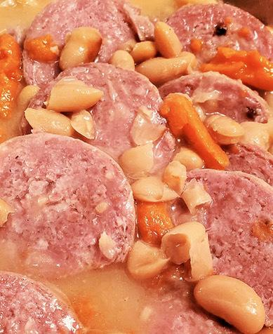 Cotechino with Cannellini Beans
