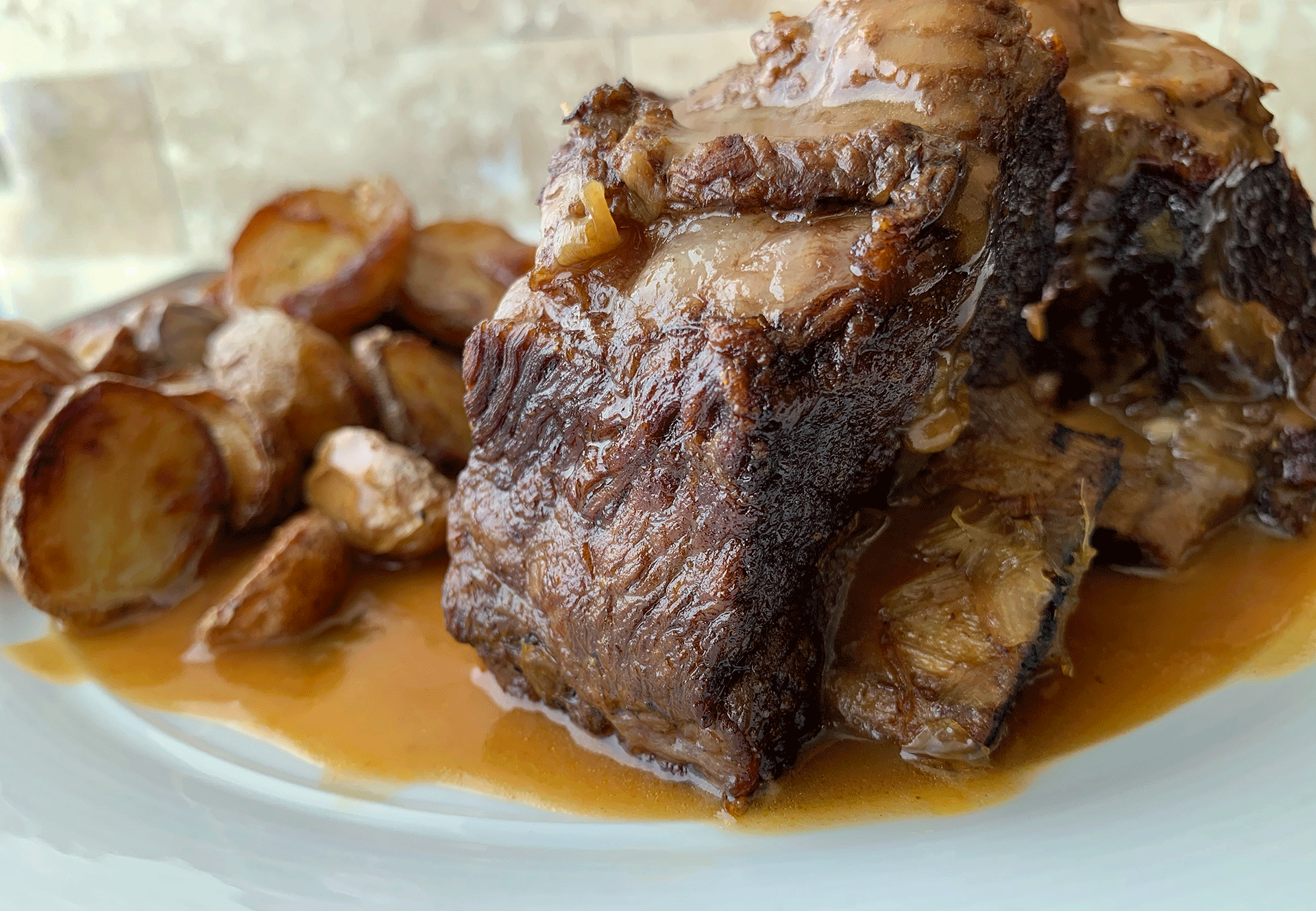 Braised Irish Whiskey Beef Short Ribs